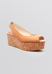 Max Mara Open Toe Platform Wedge Sandals - Nocera