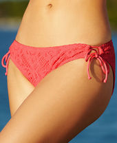 Kenneth Cole Reaction Crochet Side-Tie Bikini Bottom