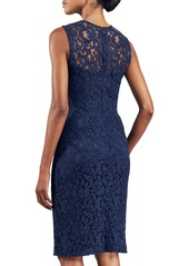 David Meister Sleeveless Lace Sheath Dress, Navy