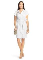 Aviana Short Sleeve Cotton Shirt Dress