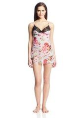 Betsey Johnson Women's Knit Chiffon Slip Nightgown