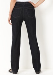 Charter Club Petite Jeans,Tummy-Slimming Classic-Fit Straight-Leg, Dark Rinse Wash