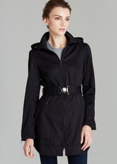 Laundry by Shelli Segal Coat - Belted Hooded Soft Shell