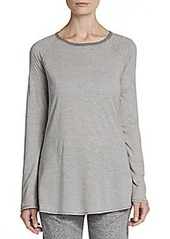 Calvin Klein Performance Hairline Striped Roll-Sleeve Tunic