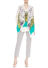 Etro Cravat-Print Cropped Pants