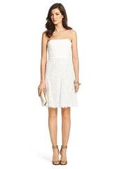 Amira Lace Strapless Dress