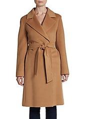 Cinzia Rocca Wool Fleece Wrap Coat