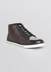 Elie Tahari Lace Up High Top Sneakers - Ryder