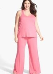 Nordstrom Lace Detail Racerback Pajamas (Plus Size)