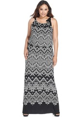 Alfani Plus Size Printed Halter Maxi Dress