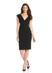 Catherine Malandrino Women's Afina Deep V-Neck Short Sleeve Ponte Dress