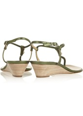 Giuseppe Zanotti Metallic leather wedge sandals