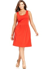 Charter Club Plus Size Sleeveless A-Line Dress