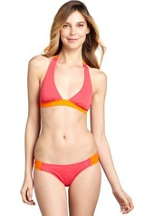 French Connection pink and orange colorblock 'Summer Strip' hipster bottom
