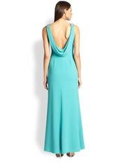 David Meister Embellished Crepe Gown