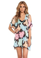 Ella Moss Belle Floral Tunic Cover Up in Black