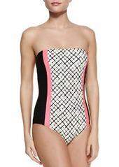 Ella Moss Swim Veranda Colorblock One-Piece Swimsuit