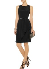MICHAEL Michael Kors Belted silk-crepe dress