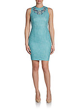 Cynthia Steffe Adriana Embroidered Sheath Dress