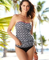 Kenneth Cole Reaction Banded Printed Hipster Bikini Bottom