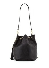 Foley + Corinna Convertible Sling Drawstring Bucket Bag, Black