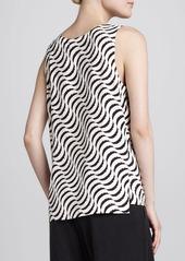 Go Silk Ripple-Print Tank, Women's