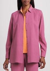 Go Silk Easy-Fit Colorblock Silk Shirt, Petite