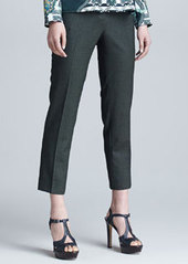 Etro Cropped Stretch Wool Pants