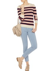 AG Jeans The Legging Ankle striped twill skinny jeans