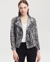 Kenneth Cole New York Ella Snake Print Moto Jacket