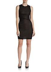 Calvin Klein Illusion Striped Knit Dress