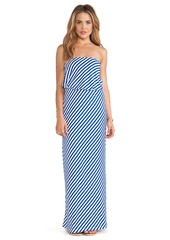 Susana Monaco Rita Strapless Maxi Dress in Blue