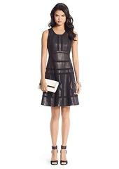 Margot Trim Detail Leather Dress