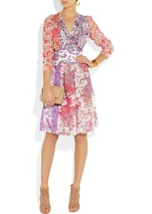 Etro Printed crepe wrap dress