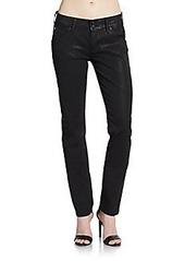 Hudson Collin Waxed Skinny Jeans