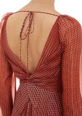 "Diane von Furstenberg Diamond-Print Long-Sleeve Maxi ""Kesh"" Dress"