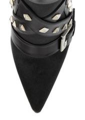 Manolo Blahnik Toapa Studded Mixed-Media Ankle Boot