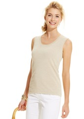 Charter Club Petite Sleeveless Shell Sweater