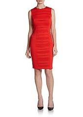 Calvin Klein Pleat Front Ponte Dress