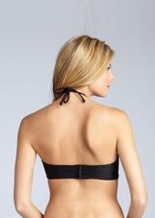 Shoshanna black nylon turquoise stone halter bikini top