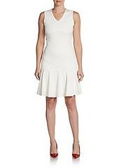 Calvin Klein Ponte Flounce Hem Dress