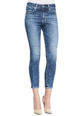 AG Adriano Goldschmied Farrah 12 Years Vintage High-Rise Cropped Skinny Jeans