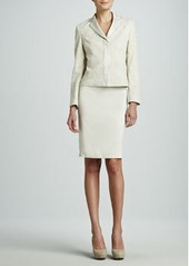 Albert Nipon Lace Jacket Skirt Suit