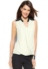 Alfani Embellished Colorblock Draped Top