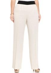 Alfani Plus Size Linen Wide-Leg Pants