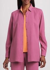 Go Silk Easy-Fit Colorblock Silk Shirt