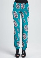 Nanette Lepore Printed Silk Pajama Pants