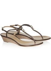 Giuseppe Zanotti Carolina metallic leather sandals
