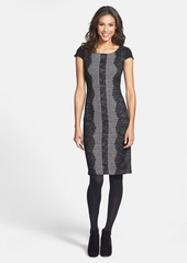 Betsey Johnson Lace Trim Tweed Sheath Dress