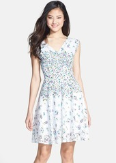 Betsey Johnson Print Lace Fit & Flare Dress